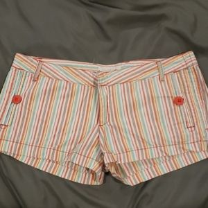Candy stripped shorts